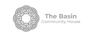 the basin logo grey