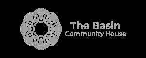 the basin logo grey